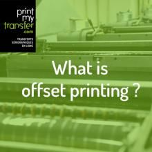 What is offset printing ?