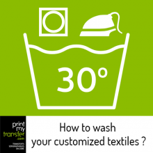 How to wash your customized textiles