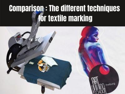 Comparison Chart 2020: The different techniques for textile branding