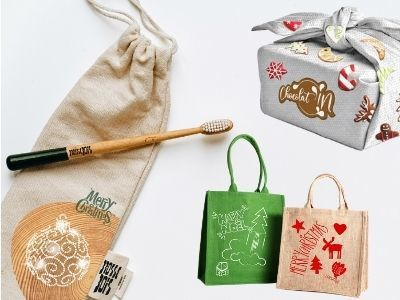 End of year festivities? Eco-responsible creative textile supports for better messaging