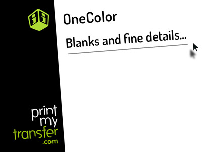 Print-one-color Tutorial